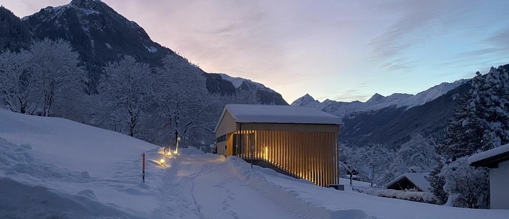 Haus Albuin Morgenschnee